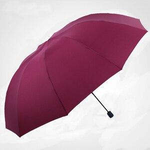 Image 3 - 152CM Top quality Umbrella Men Rain Woman Windproof Large Paraguas Women Sun 3 floding Big Family Umbrella Outdoor Parapluie