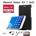 Для Huawei honor X2 случае ИСКУССТВЕННАЯ Кожа Три раза Случае MediaPad X2 Крышки Случая ультра-тонкий Откидная Крышка Телефон Случае