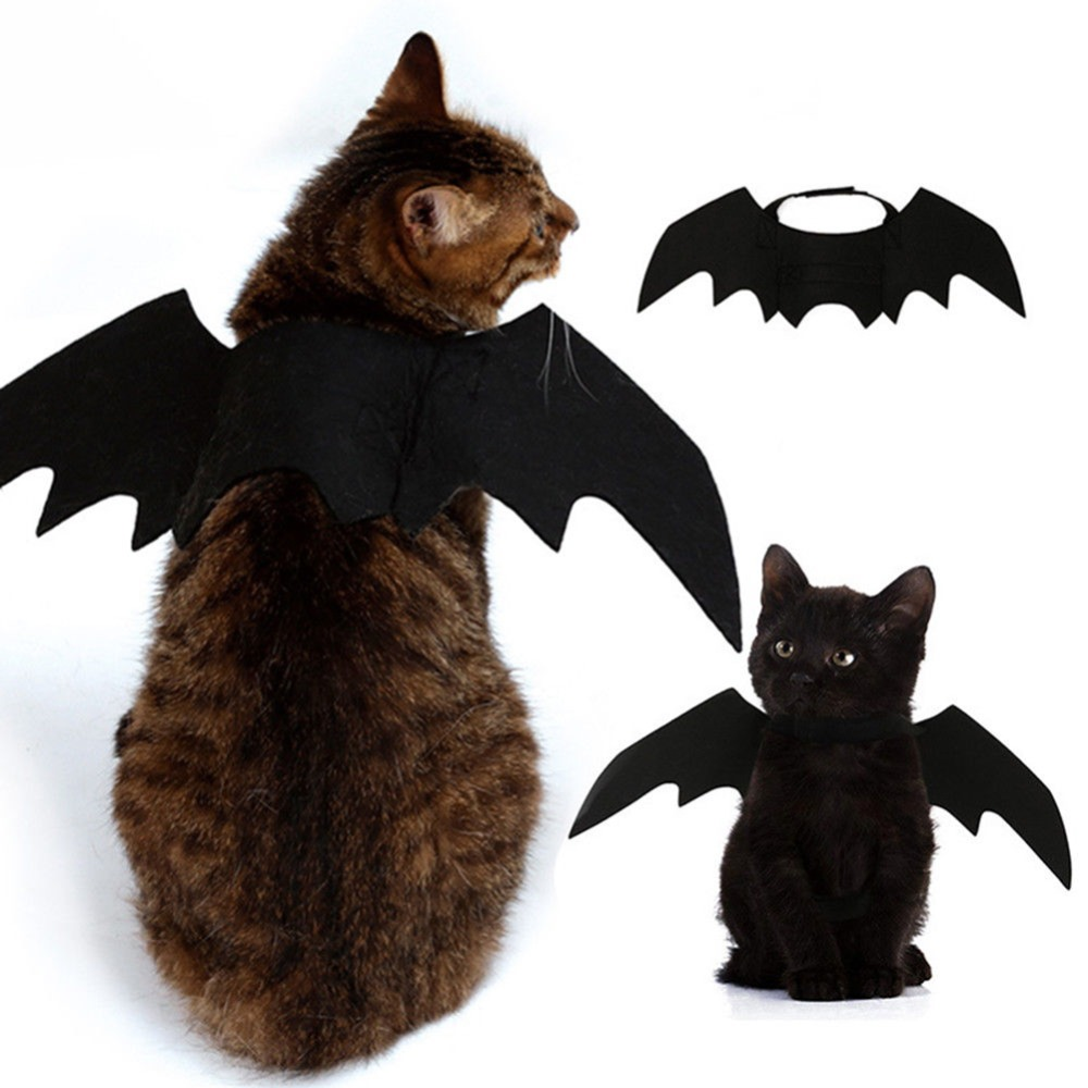 Funny Cats Cosplay Costume Halloween Event Pet Bat Wings Cat Bat Costume Fit Party Dogs Cats Playing Pet Accessories 1pc Professional Design Cat Supplies