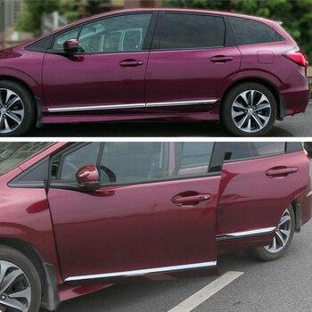 Honda JADE 2013 için-2017 4 ADET Araba Styling Paslanmaz Çelik Dış Araba Yan Kapı Vücut Trim Kalıplama Aksesuarları yan Kapak Trim