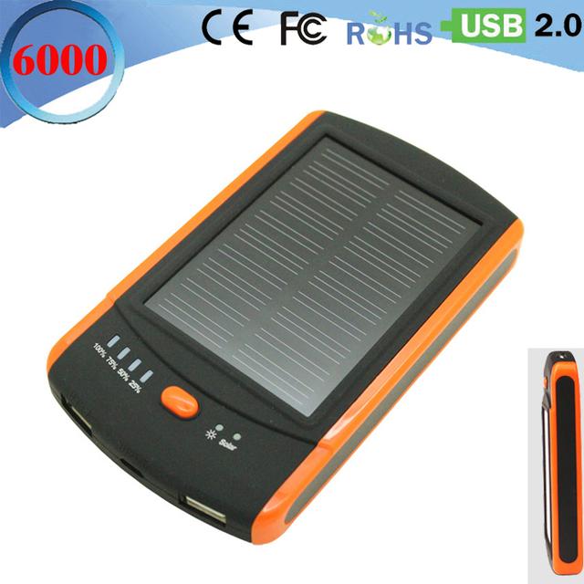 Tropweiling Real 6000 mah Solar Power Bank cargador portátil Powerbank dual usb cargador solar de batería externa para Todos Los teléfonos