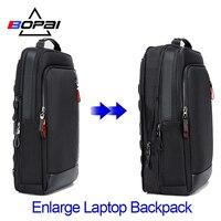BOPAI Multifunction Enlarge Laptop Backpacks USB charging 15.6inch Men's Backpack Anti theft Large Capacity Male Travel Bag