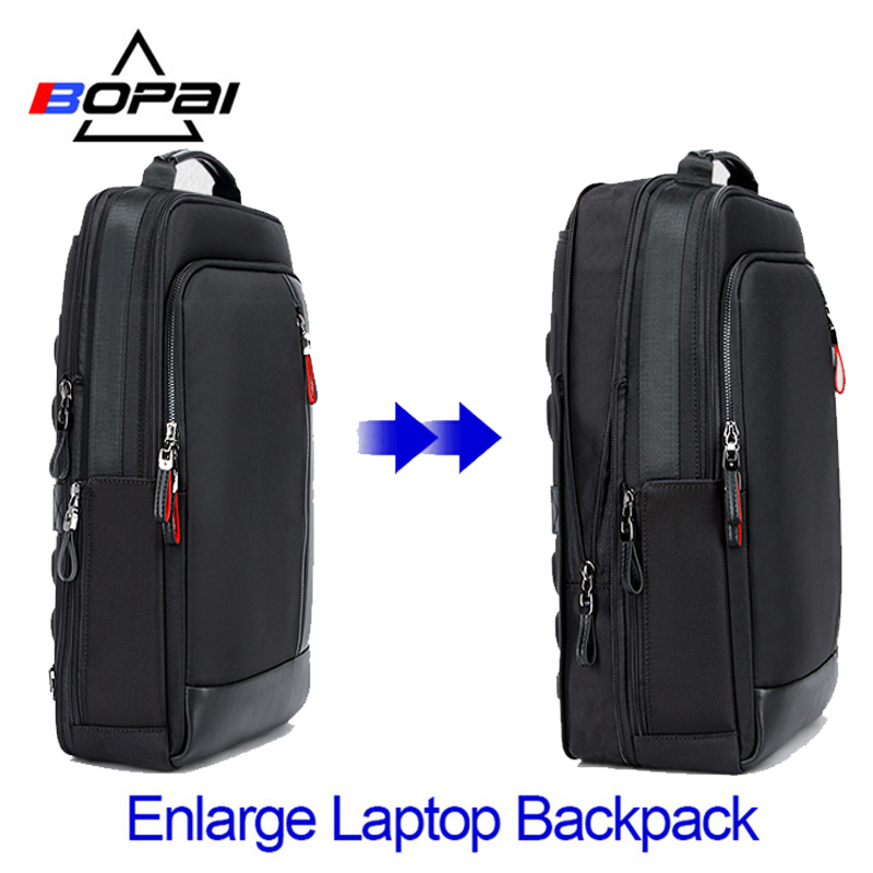 BOPAI Multifunction Enlarge Laptop Backpacks USB Charging 15.6inch Men's Backpack Anti Theft Large Capacity Male Travel Bag