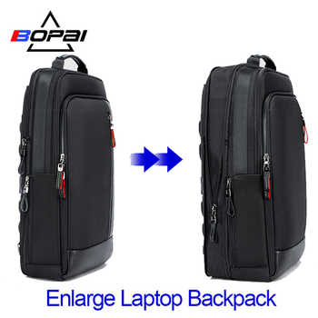 BOPAI Multifunction Enlarge Laptop Backpacks USB charging 15.6inch Men's Backpack Anti theft Large Capacity Male Travel Bag - DISCOUNT ITEM  47% OFF All Category