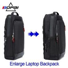 BOPAI متعددة الوظائف تكبير حقائب الكمبيوتر المحمول USB شحن 15.6 بوصة الرجال على ظهره مكافحة سرقة سعة كبيرة الذكور حقيبة السفر