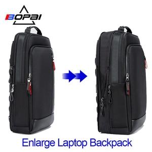 Image 1 - Bopai multifunction ampliar mochilas portáteis usb de carregamento 15.6 Polegada mochila anti roubo masculino grande capacidade viagem saco