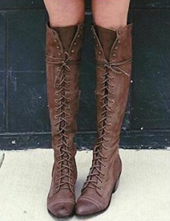 Cruzadas Altas La Sobre Invierno Cuadrado marrón De Mujeres Botas Negro Goma Rebaño Atractivas Rodilla gris Tacón Pisos Mujer xr6wAxg