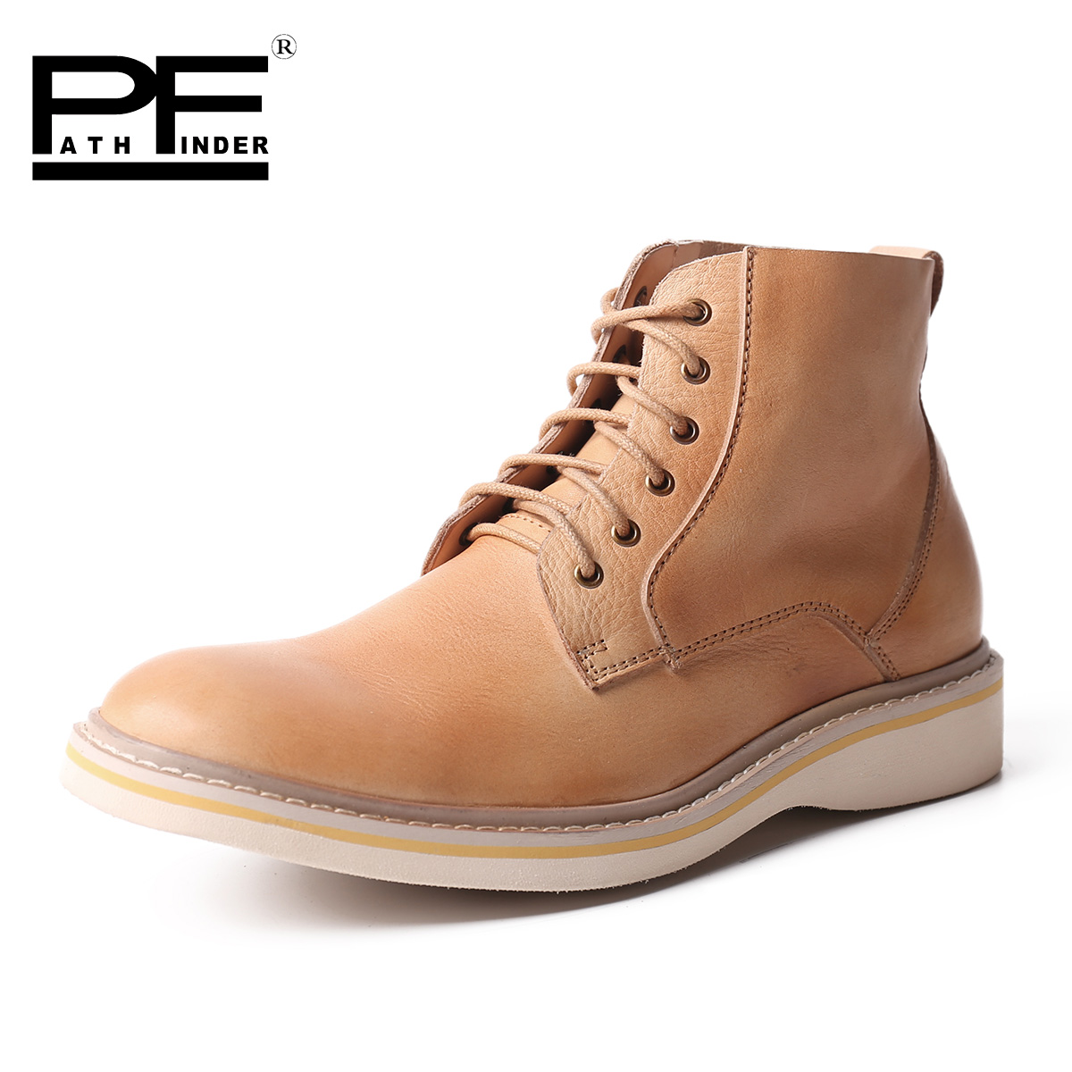 Pathfinder Fashion High Quality Botas Men Original Brand Spring font b Cowboy b font Booties Designer