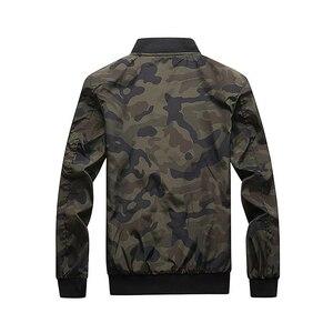 Image 4 - Esercito Giacca Mimetica Uomini Casual Bomber Giubbotti Mens Zipper Outwear Giacca di Autunno della Molla Sottile Cappotto Uomo Più Il Formato 7XL formato