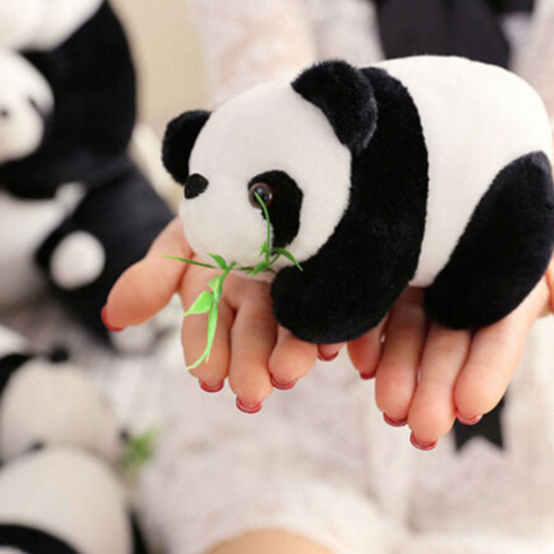 Black White Stuffed Plush Animals Toys Doll Cartoon Panda Plush Popular Toys For Children Crteative Gifts