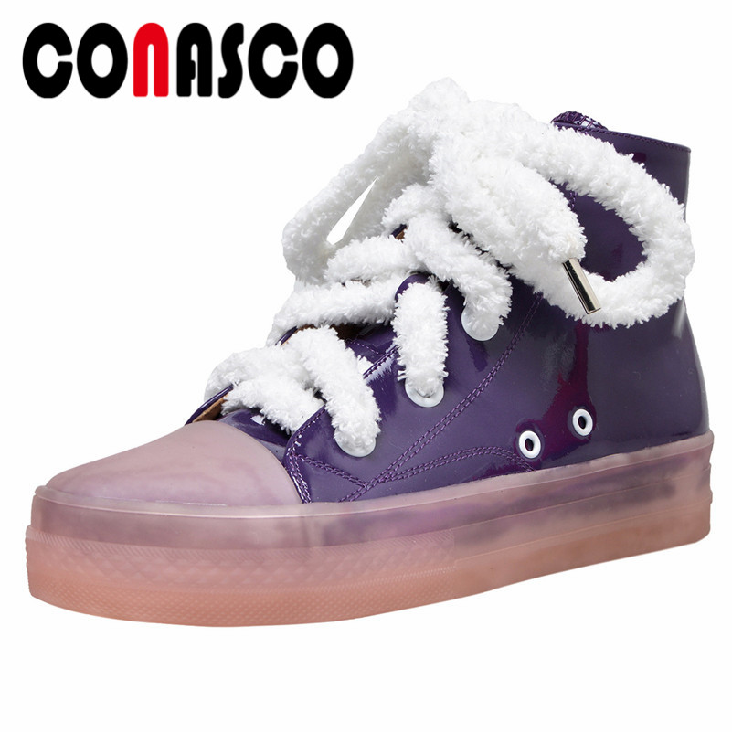 CONASCO Fashion Women Flats Heels Ankle Boots Lace Up Round Toe Spring Autumn Martin Shoes Woman Ladies Comfort Sneakers  CONASCO Fashion Women Flats Heels Ankle Boots Lace Up Round Toe Spring Autumn Martin Shoes Woman Ladies Comfort Sneakers