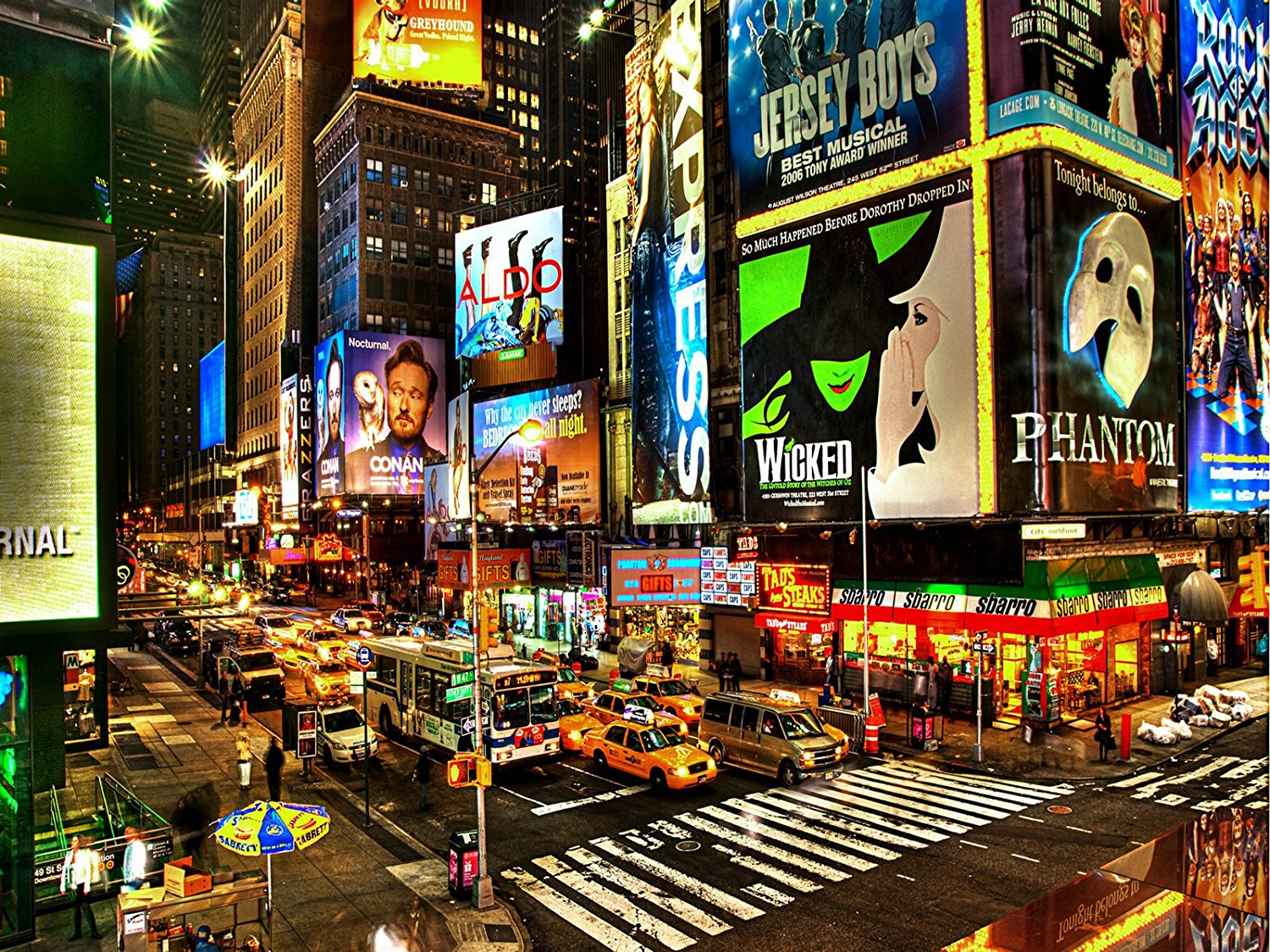 New York City  photo background High-grade Vinyl cloth Computer printed Times Square   backdrop