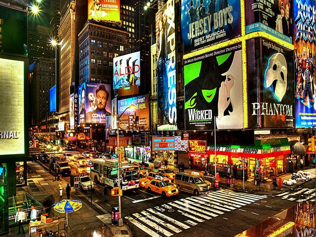 New york city photo background vinyl cloth high quality computer printed times square backdrop - Times square background ...