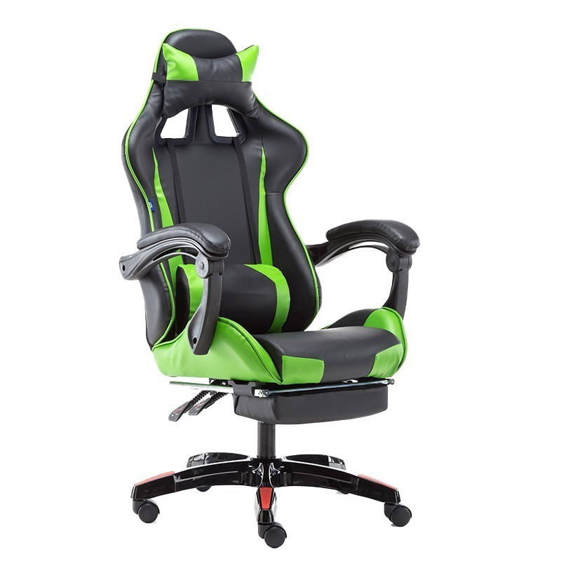 High Quality  Poltrona Silla Gamer Live Office Chair Ergonomics With Footrest Synthetic Leather Household Nylon Feet Can Lie