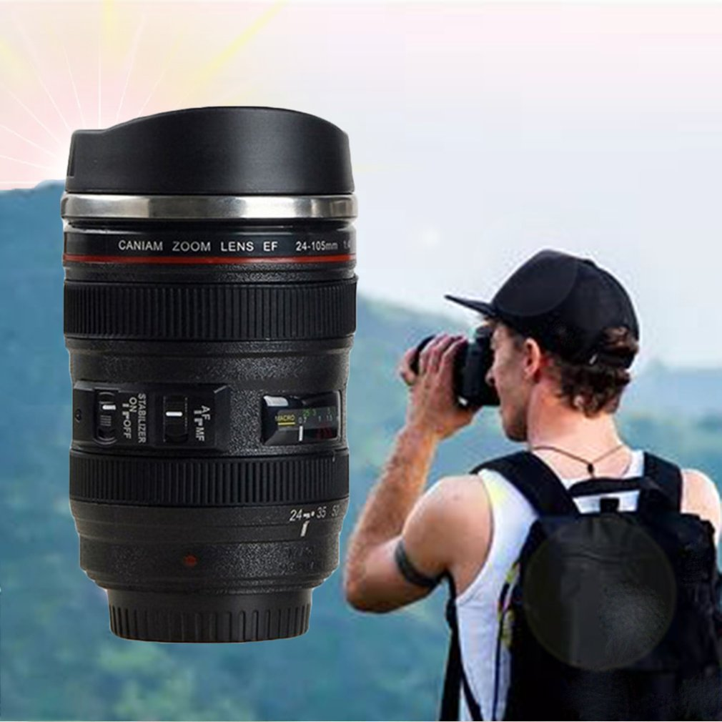Creative Stylish Cup Lens Cup Fifth Generation Lens Cup Creative Crafts Mug With Stainless Steel Inner Liner(China)