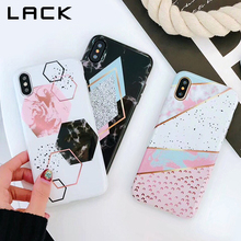 LACK Candy Color Marble Phone Case For iphone X Case For iphone 6S 6 7 8 Plus Funny Geometry Splice Pattern Cases Retro Cover