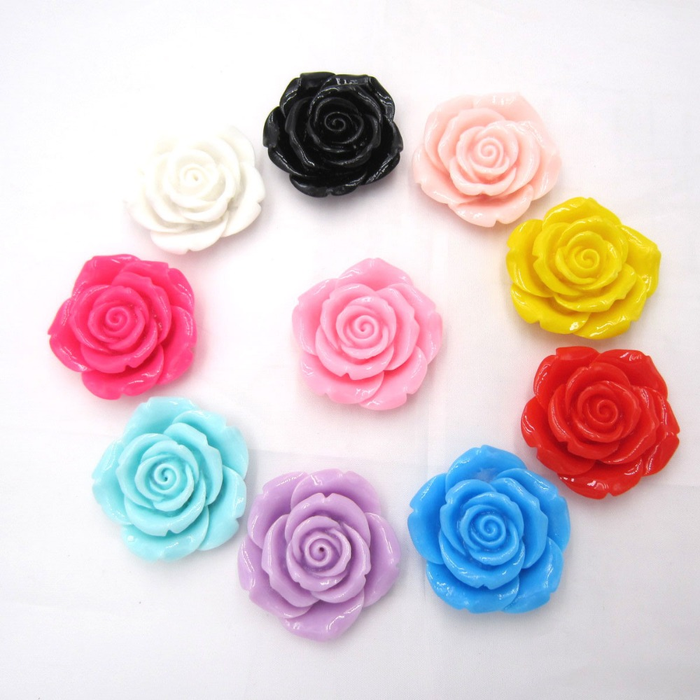 Easter Pastel Colorful 42mm 10pcs a lot Colorful Acrylic Big Resin Flower Beads for Girls Chunky Beads Necklace Jewelry Making