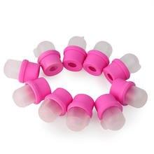 10pcs Plastic Nail Art Soaker Off Caps Clip UV Gel Polish Remover Wrap Tool Nail Art Tools for Fingers Nail Polish Remover