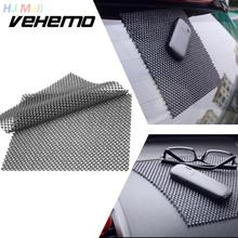 Vehemo Flexible Auto Car Vehicle Anti Slip Dashboard Mat Pad Phone Coin Holder Black