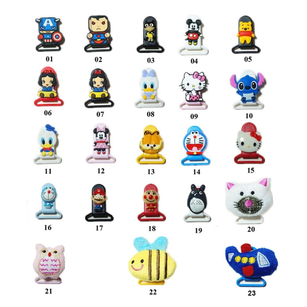 Cute Pacifier klipai Dummy Pacifier laikiklis Individualus kūdikio karikatūros kombinezonas Klipo laikiklis DIY vaikams Juokingi drabužių klipai 10vnt.