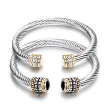 Браслет-Шарм с несколькими витыми кабелями, женский браслет, модные браслеты,, Уникальный дизайнерский бренд, ювелирное изделие, браслеты-манжеты