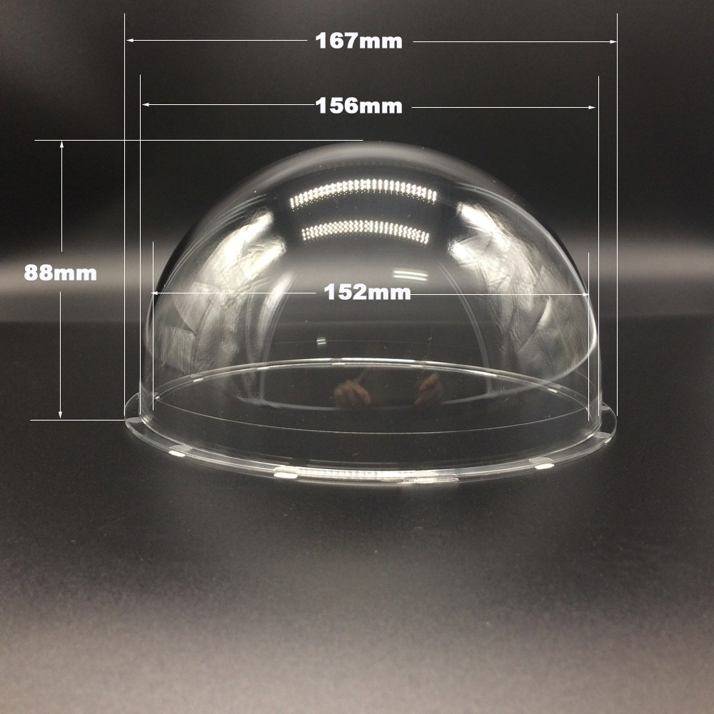 Newest 6 INCH 167x88mm Acrylic Indoor / Outdoor high-speed CCTV Clear Housing Transparent Dome Cover Case For CCTV Camera wistino cctv camera metal housing outdoor use waterproof bullet casing for ip camera hot sale white color cover case