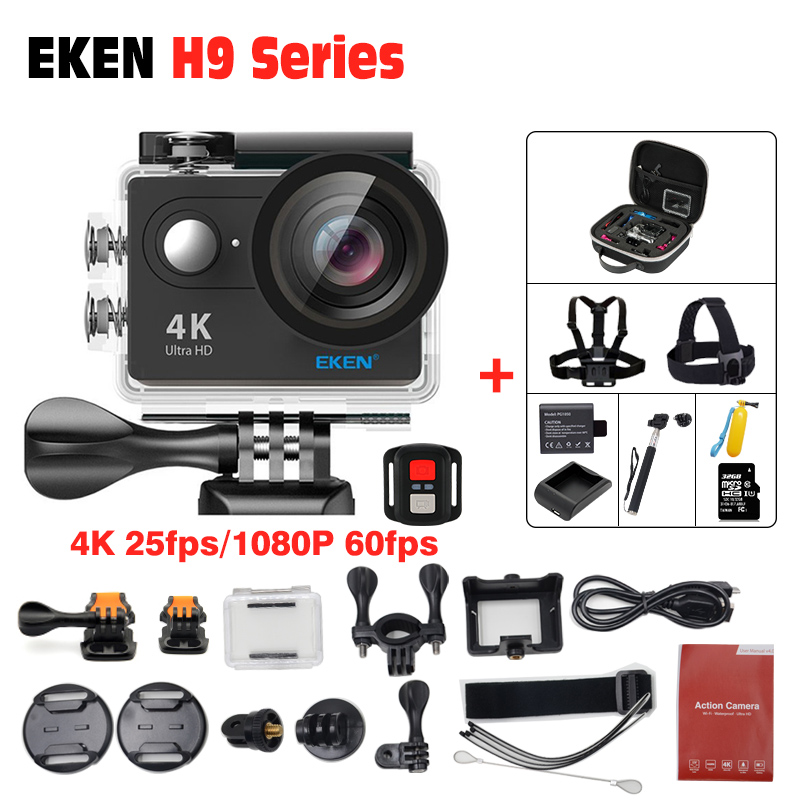 EKEN H9R Action camera H9 Ultra HD 4K / 25fps WiFi underwater Helmet Cam waterproof camera 2.0 170D remote Sport cam ...