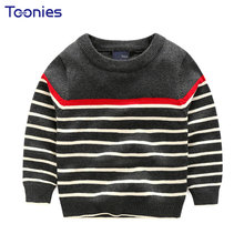 Hot Sale Fashion Brand Children's Clothing Boys Sweater High Quality Striped Cotton Sweater Spring Autumn O-neck Kids Sweater