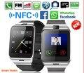 Gv18 plus smart watch phone nfc à prova d' água câmera do relógio de pulso cartão sim smartwatch para samsung android telefone pk dz09 gt08 U8
