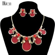 MS20386 модные красные Цепочки и ожерелья комплект ювелирных изделий Античная новое поступление подарок партии Высокое качество Бесплатная доставка