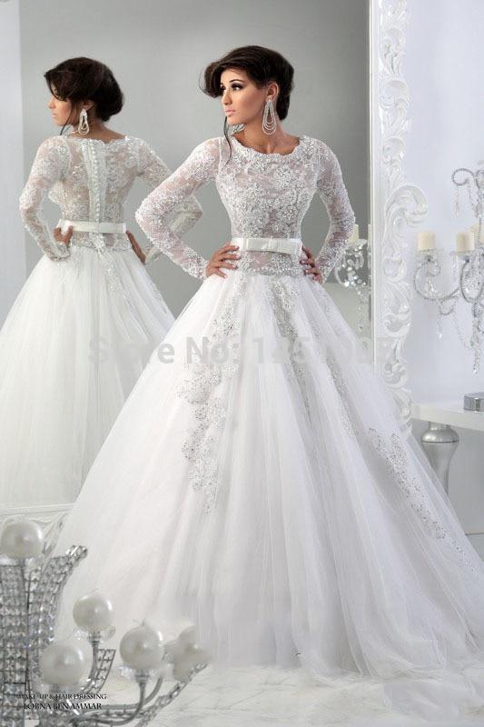 Elegant scoop a line appliqued arabic dubai abaya lace for Wedding dresses in dubai prices