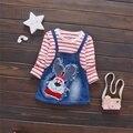 Primavera Otoño Diseño Casual Niñas Vestidos de Manga Larga Vestidos Del Bebé Arropa los Sistemas Niños Mickey CC0014