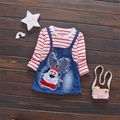 Spring Autumn Casual Design Girls Long Sleeve Dresses Baby Girl Clothes Sets Children Mickey Dresses CC0014