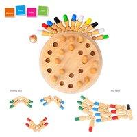 Bằng gỗ Que Diêm Bộ Nhớ Trò Chơi Cờ Vua Que Diêm Multicolor Thống Trận Đấu Craft Sticks Trẻ Em 3D Câu Đố Giáo Dục Sớm Đồ Chơi Mới