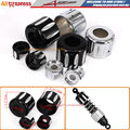 Motorcycle CNC Aluminum Rear Shock Lower Cover & Shock Top Mount Bolt Covers caps Kit For Harley Sportster XL 883 1200 2004-2015