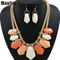 Statement Necklace Fashion for Women 2017 choker female set long gold big chain Vintage Necklaces & Pendants Earrings Jewelry