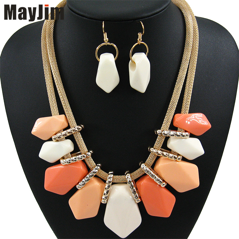 Statement Necklace Fashion for Women 2018 choker female set long gold big chain Vintage Bijoux Necklaces & Pendants Jewelry