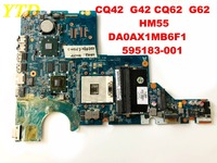 Original for HP G42 G62 CQ42 CA62 laptop motherboardHM55 DA0AX1MB6F1 595183 001C tested good free shipping