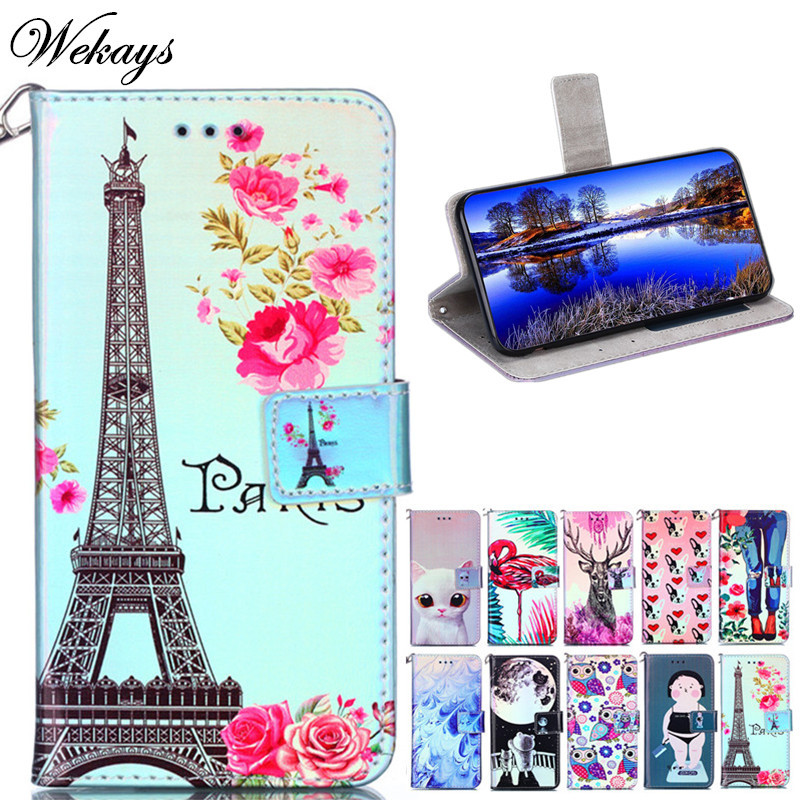 Wekays Cover For Samsung Note 8 Note 9 Cartoon Tower Leather Fundas Case For Samsung Galaxy Note 9 Note 8 Cover Case Note8 Note9