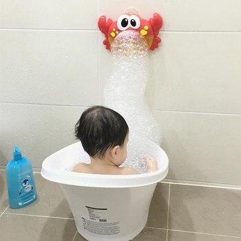 חדש Creative חמוד סרטנים יצרנית בועה אמבט צעצוע מוסיקה יצרנית בועה שחייה מצחיק לשחק אמבטיה כלי לילדים ילדים