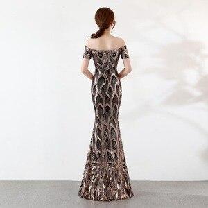Image 5 - נובל וייס ארוך כבוי כתף ערב שמלות ערב בת ים שמלות נשים פורמליות שמלות us2 14
