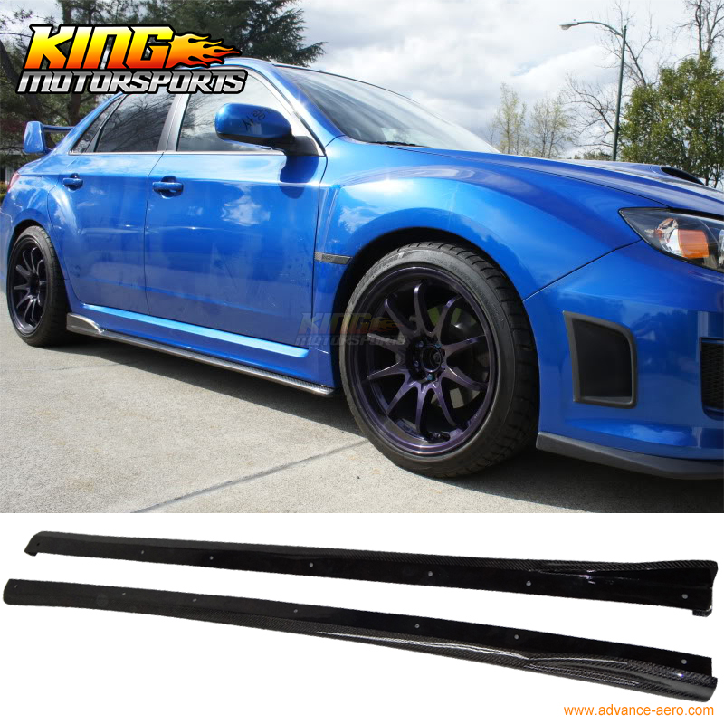 For 2008 2014 09 10 11 12 13 subaru impreza wrx sti 4dr cs style for 2008 2014 09 10 11 12 13 subaru impreza wrx sti 4dr cs style side skirts carbon fiber cf usa domestic free shipping in bumpers from automobiles publicscrutiny Gallery