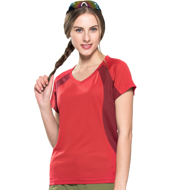 Women T-shirt Short Sleeve Outdoor Quick Drying Breathable Female Tops For Hiking Camping Basic Soft Touch Runing Plus Size 3XL