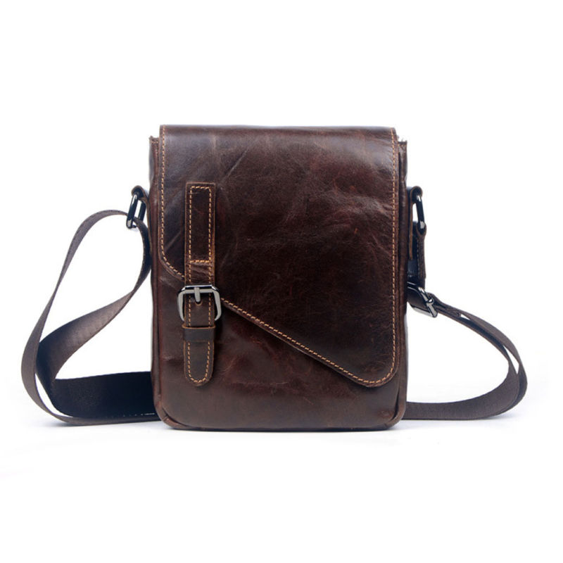 Men Genuine Leather Oil Wax leather First layer Cowhide Cross Body Messenger Shoulder Pack Travel Climb Luxury Trend Vintage Bag напольная плитка fap maku light matt 60x60