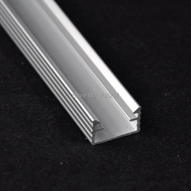 free shipping 10pcs SMD 8520 cool white 50cm 36leds led rigid bar strip light U shape profile aluminum slot