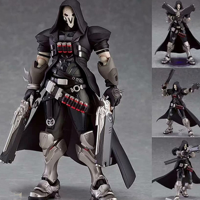 17cm ow Figma 393 Overwatches Reaper Series PVC Action Figure Model Toys Doll Gift