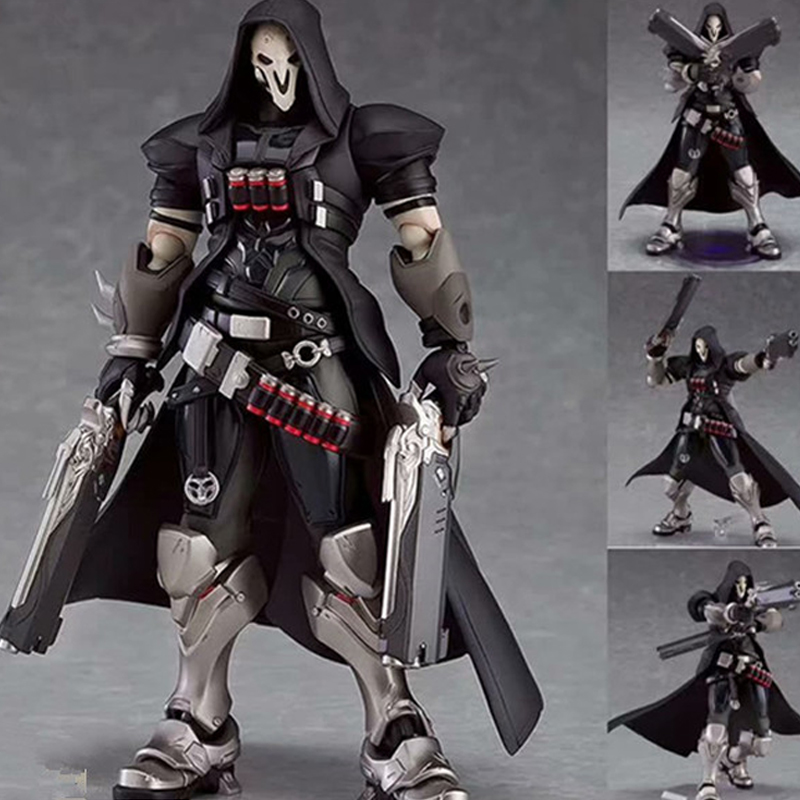17cm ow Figma 393 Overwatches Reaper Series PVC Action Figure Model Toys Doll Gift image