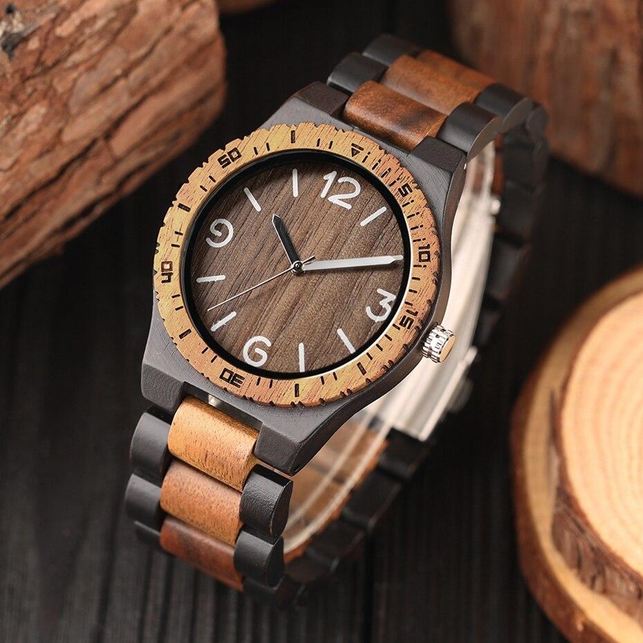 Minimalist Retro Full Wooden Watches Women Men Bamboo Wood Bracelet Fashion Creative Quartz Wristwatch Handmade Gifts Clock Hour 2018 (8)