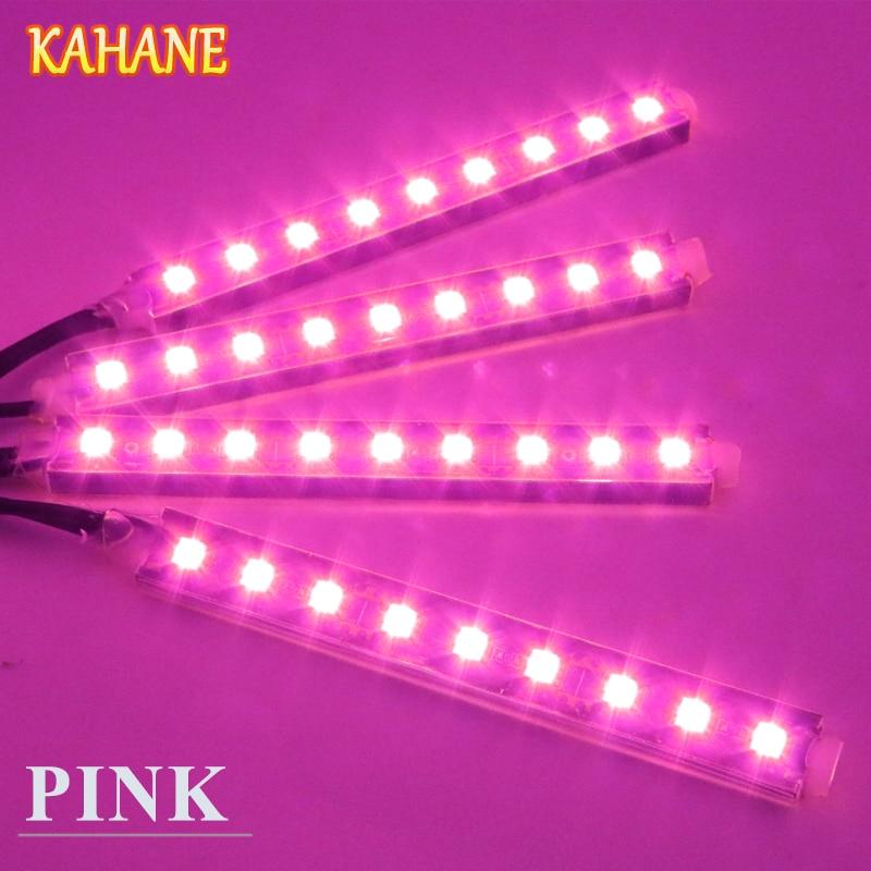 KAHANE 4x9 Pink LED Car Styling Interior Floor Atmosphere Light FOR Ford Fiesta Focus 2 3 Focus MK2 Ranger Volvo V70 XC90 S60 2pcs 12v 31mm 36mm 39mm 41mm canbus led auto festoon light error free interior doom lamp car styling for volvo bmw audi benz