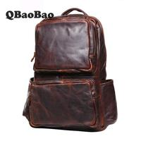 Men Backpacks 100% Genuine Leather Men's Travel Bag Fashion Man Backpack Casual Business Backpack Male Backpack